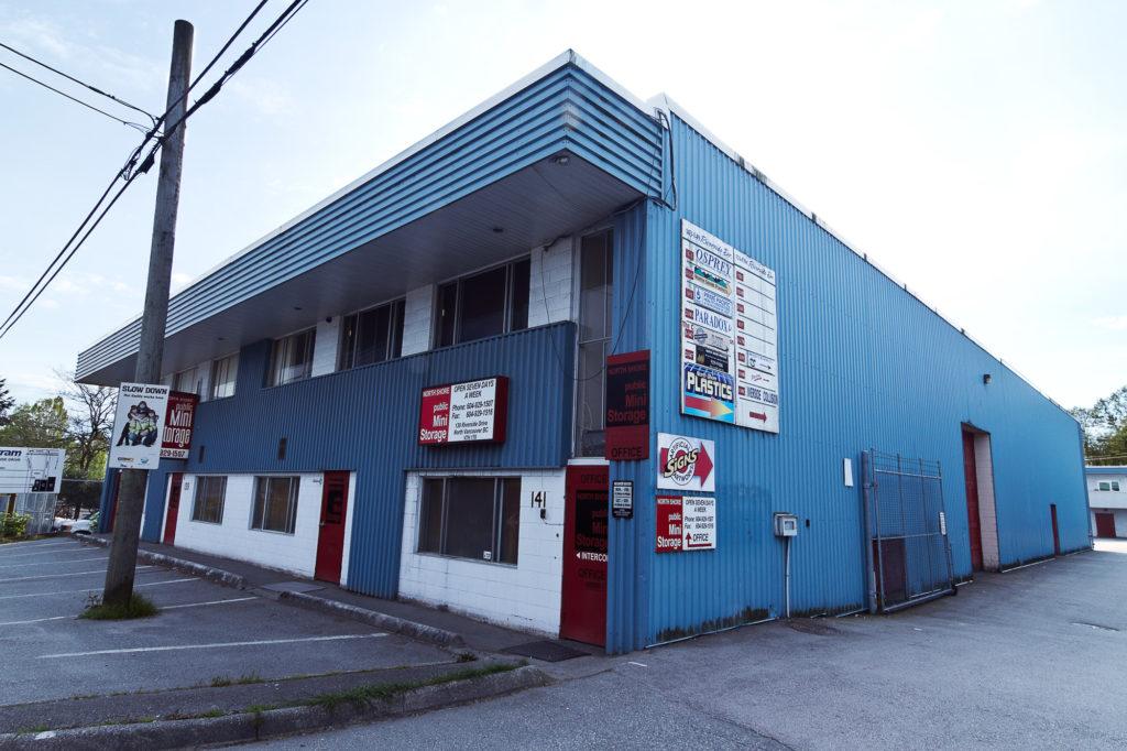 storage north vancouver, north shore mini storage, front, street