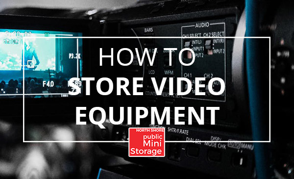 storing video equipment, camera, lense