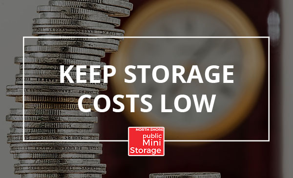 storage costs, money, save