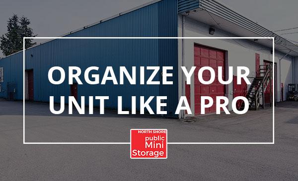 organize unit, tips, storage