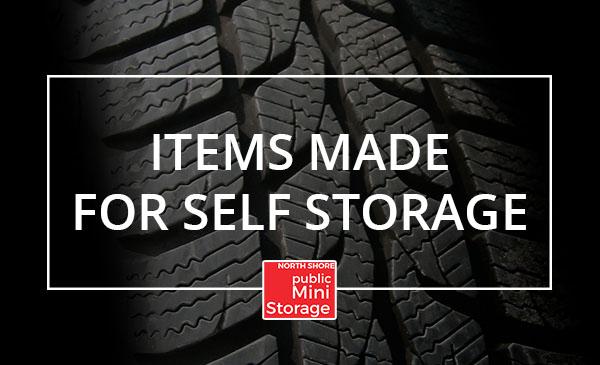 items, self storage, tires