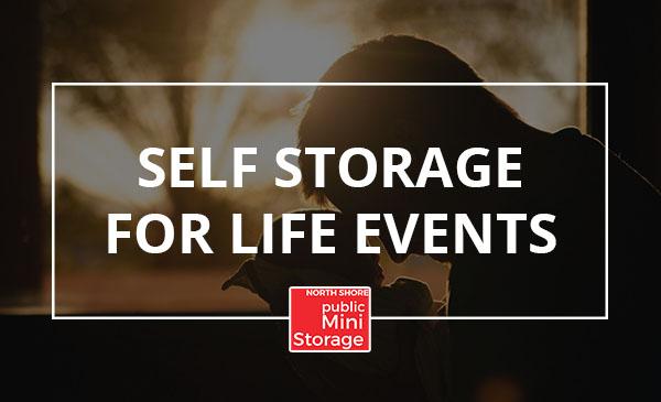 life events, self storage, baby, man